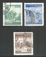 Germany DDR 1953 Year Used Stamps Mi.# 355-357 - Used Stamps
