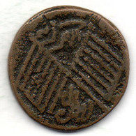 CHINA - SINKIANG, 10 Cash, Copper, Year 1912, KM #37.2 - Cina