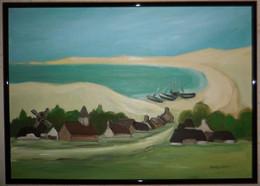 Tableau à L'huile Sur Toile De Vangrevelinge :Duinkerque ( DUNKERQUE Future Cale Des Pêcheurs ; Format 67x48 - Huiles