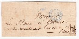 LEMARCHAND Louis-Edouard Ébeniste Meuble C.A.D. Bleu  Lettre En Port Du De Paris Pour Paris Baron Charles Godinot - 1801-1848: Précurseurs XIX