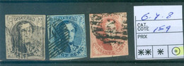 6à8 Oblitérés   Côte 159€ - 1851-1857 Medaglioni (6/8)