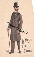 75 24430 PARIS SEINE 1894 Mode HIGH LIFE TAILOR Faubourg Montmarte ( Costumes ) - Before 1900