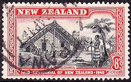NEW ZEALAND 1940 KGVI 8d Black & Red SG623 Used - Officials