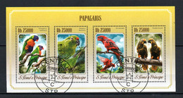 W2-29  Sao Tome Et Principe Bloc Oblitéré Thématique Papagaios  A Saisir  !!! - Sao Tomé E Principe