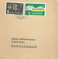 """Mischfrankatur  """"Postauto, Zürich""""         1956 - Covers & Documents"""