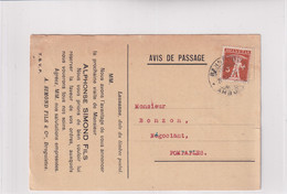 137 Auf Besuchsanzeige Karte Von Alphonse Simond Fils Lausanne - Cartas
