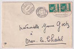 172 Paar Auf Brief Gelaufen Von LAUSANNE 11 GARE Nach ORON LE CHÂTEL - Cartas