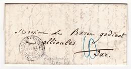 Lettre Paris 1847 Courtois Cachet Chambre Des Députés Baron Charles Godinot Ollioules Var Monarchie De Juillet - 1801-1848: Précurseurs XIX