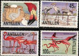 Dutch Antilles 1985 Flamingo Birds 4 Val MNH 2103.2720 Nederlandse Antillen Phoenicopterus Ruber Ruber - Flamingo
