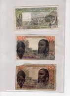 Lot De 6 Billets Afrique De L'ouest - États D'Afrique De L'Ouest