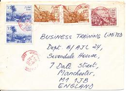 Algeria Cover Sent Great Britain 22-8-1987 - Algerije (1962-...)