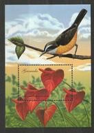 Grenada 2000 Blumen Vogel Mi Block 606 ** Postfrisch - Grenada (1974-...)