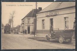 CPA 62 - Tincques, La Route Nationale - Des Automobiles - Andere Gemeenten