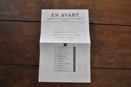 RARE Feuille électorale Elections Communales Liste PSB Falisolle 1964 En Avant Parti Socialiste Piefort Maurice Editeur - Documenti Storici