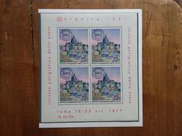 REPUBBLICA - BF Eurphila '77 Roma - Nuovo ** - I.P.Z.S. + Spese Postali - Blocks & Sheetlets