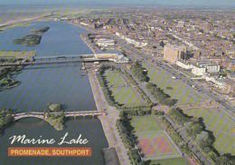 Unused Postcard, Lancashire, Southport, Marine Lake & Promenade, John Hinde - Otros