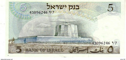 Israel P.34c 5 Lirot 1968 A-unc - Israël