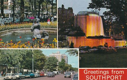 Unused Postcard, Lancashire,  Greetings From Southport, Multiview - Otros