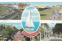 Unused Postcard, Lancashire,   Southport, Multiview, 3 - Otros