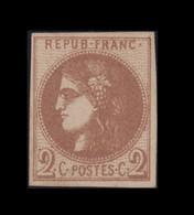 N°40Aa – Bordeaux - * SUP - Signé Et Certificat - 1870 Bordeaux Printing