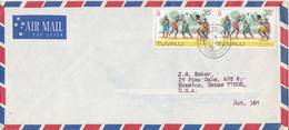Tuvalu Air Mail Cover Sent To USA 7-9-1976 - Tuvalu