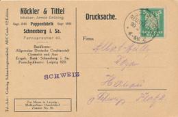 SCHNEEBERG   -  1923  ,  Lochung , Perfin  -   Nöckler & Tittel  Puppenfabrik - Covers