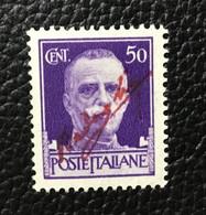 1944 NAPOLI SOPRASTAMPA CON FIRMA DI BADOGLIO (SAGGI) Su FRANCOBOLLI ITALIANI 50cent Imperiali **1.800 € - Marcofilía