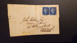Queen Victoria 1840 Letter Sheet With Pair Of Two Pence Stamps - Covers & Documents