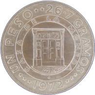 LaZooRo: Dominican Republic 1 Peso 1972 UNC Rare - Silver - Dominicana
