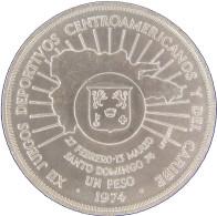 LaZooRo: Dominican Republic 1 Peso 1974 UNC Scarce - Silver - Dominicana