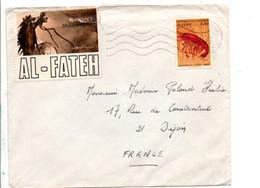 ALGERIE SEUL SUR LETTRE POUR LA FRANCE 1970 - Algerije (1962-...)
