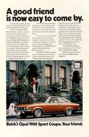 Publicité Papier VOITURE BUICK OPEL MANTA Oct 1971 NG P1051285 - Werbung