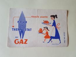 BUVARD   FOUR  A  THERMOSTAT  AU  GAZ - Electricity & Gas