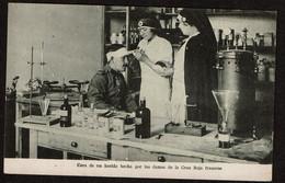 WW1 - Cura De Un Herido Hecha Por Las Damas De La Cruz Roja Francese - Croix Rouge Française - Blessé - Voir Scans - Croix-Rouge