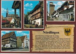 1 AK Germany / Bayern * Chronikkarte Nördlingen Mit Wappen, St. Georgskirche, Am Paradiesberg, Reimlinger Tor, Klösterle - Nördlingen