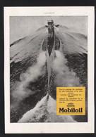 Pub 1930 Huile Lubrifiants MOBILOIL Sous Marin Marine - Advertising