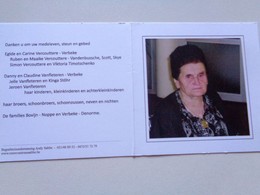 Doodsprentje/Bidprentje Marie-José Bovijn  Markegem 1933-2014 Lid NEOS Meulebeke (Wwe Gerard Verbeke) - Religione & Esoterismo