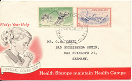 New Zealand FDC 25-7-1957 Health Stamps Sent To Germany - FDC