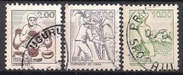 Brasilien  (1977)  Mi.Nr.  1599 X + 1600 X + 1601 X  Gest. / Used (7pa13) - Used Stamps
