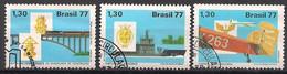 Brasilien  (1977)  Mi.Nr.  1633 - 1635  Gest. / Used (7pa05) - Used Stamps