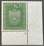 Bundesrepublik 163 Postfrisch** Eckrandstück Mit Plattennummer - Unused Stamps
