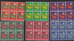 Vietnam Empire 1952 Timbres Taxe Yvert 1 / 6 ** Neufs Sans Charniere. Blocs De 6. Dragons - Viêt-Nam