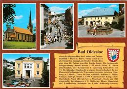 1 AK Germany / Schleswig-Holstein * Chronikkarte Der Stadt Bad Oldesloe Mit Wappen, Peter-Paul-Kirche Und Fußgängerzone - Bad Oldesloe