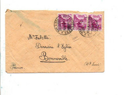 SUISSE AFFRANCHISSEMENT COMPOSE SUR LETTRE DE BEX-CHESIERES POUR LA FRANCE 1937 - Cartas