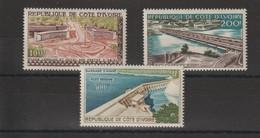 Cote D'Ivoire 1959 Vues PA 18-20 3 Val ** MNH - Costa De Marfil (1960-...)