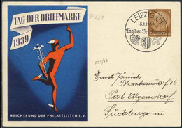 ALLEMAGNE - III RECH  / 1938 ENTIER POSTAL ILLUSTRE JOURNEE DU TIMBRE (ref 8476) - Ganzsachen