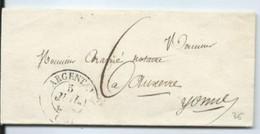 Lettre De Argentan Pour Auxerre 1835 - 1801-1848: Précurseurs XIX