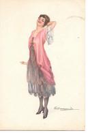 Illustrator - S. Bompard - Glamour, Woman, Femme, Frau, Fashion, Mode, Donna - Bompard, S.
