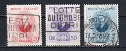 Italie 1938 : Timbres Yvert & Tellier N° 416 - 417 Et 418 Oblitérés. - Usati