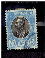 SERBIE. ( Y&T) 1905 - N°87a  * Pierre 1er Karageorgevich*  25p (oblit) - Serbia